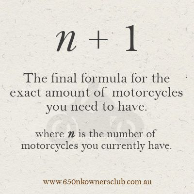 How Many Motorcycles Should I Have Bike Quotes Motorcycle