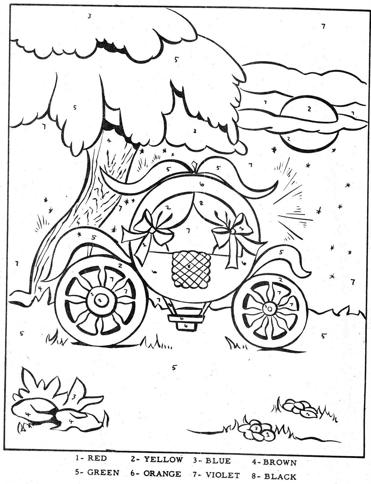 Color By Number Cinderella