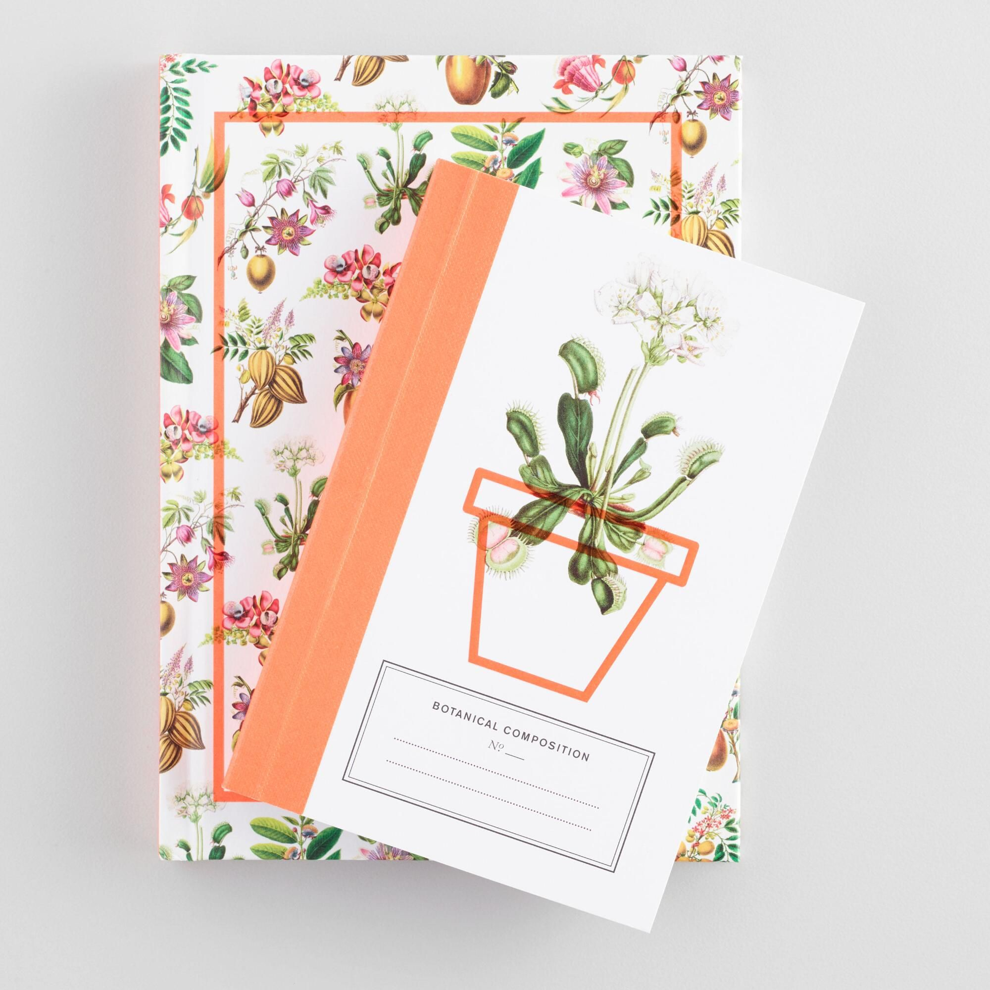 Botanical composition notebooks set of 2 by world market botanical composition notebooks set of 2 by world market m4hsunfo