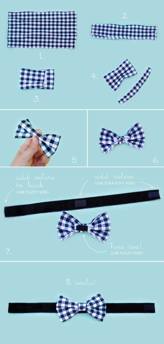 Diy No Sew Dog Bow Tie You Ll Need Fabric Scissors