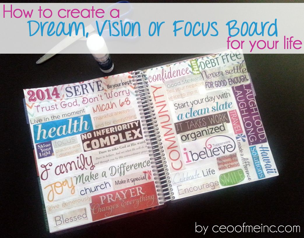 Countdown To 2012 Creating Your Dream Vision Board Focus Boards Vision Board Creating A Vision Board