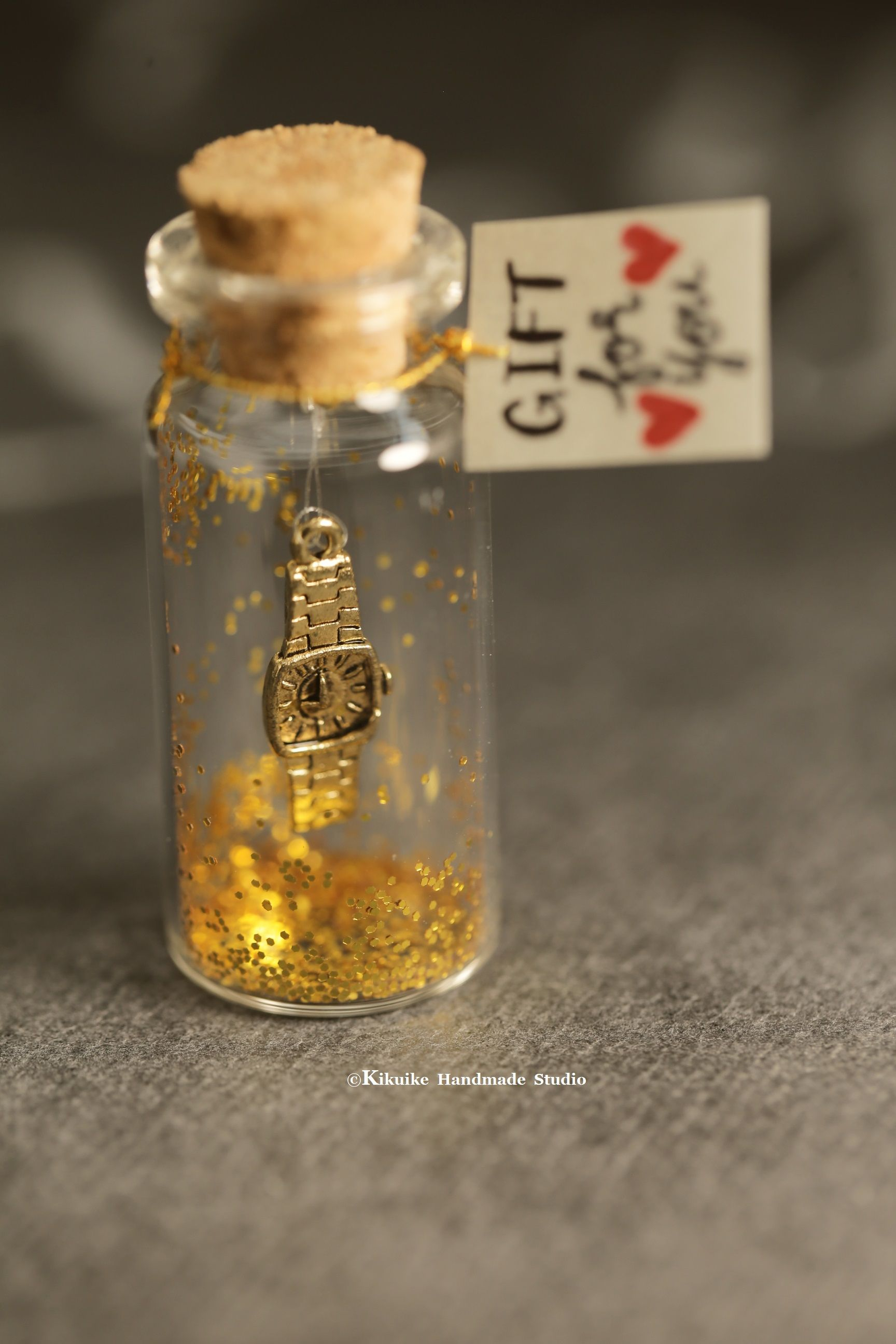 Mini Watch Miniatures Message In A Bottle Personalised Gift Lover
