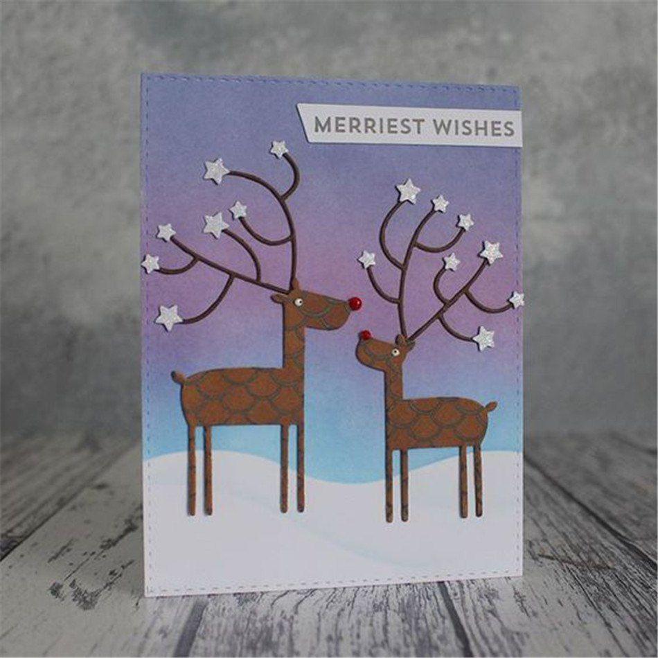 Deer Christmas Cutting Dies Card Making Cut Die Scrapbooking Album Card Making