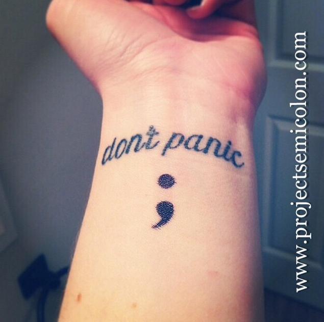 20 Beautiful Semicolon Tattoos That Raise Awareness For
