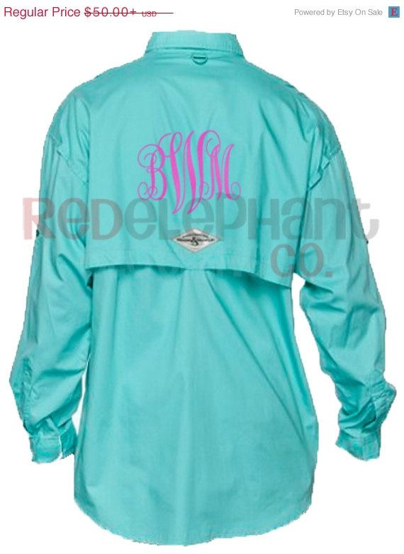877052bb9e Monogram Fishing Shirt, Personalized Bridesmaids Gifts, Womens Fishing  Shirt, Preppy Swimsuit Cover Up, Monogram Beach Cover Up