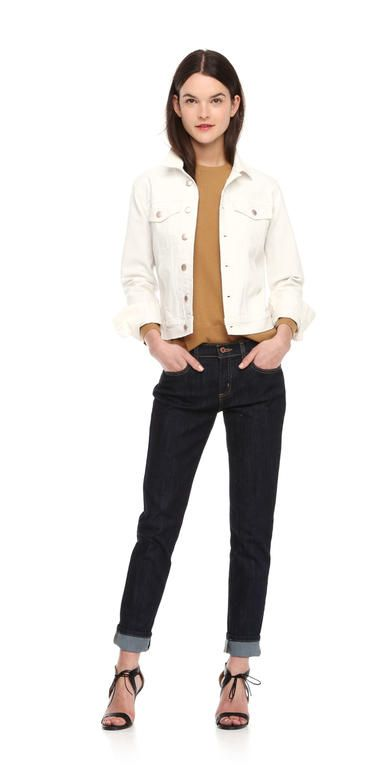 fb84eed64 White Denim Jacket from Joe Fresh. Take your go-to denim jacket in a ...