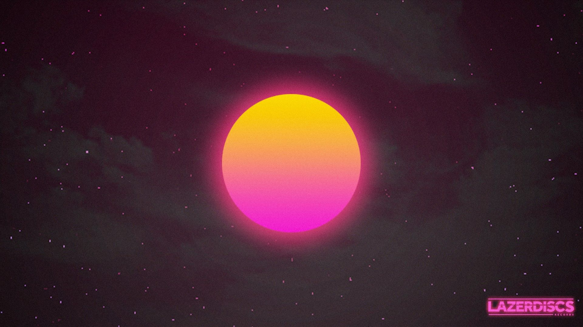 General 1920x1080 synthwave Sun cyberpunk space 1980s ...