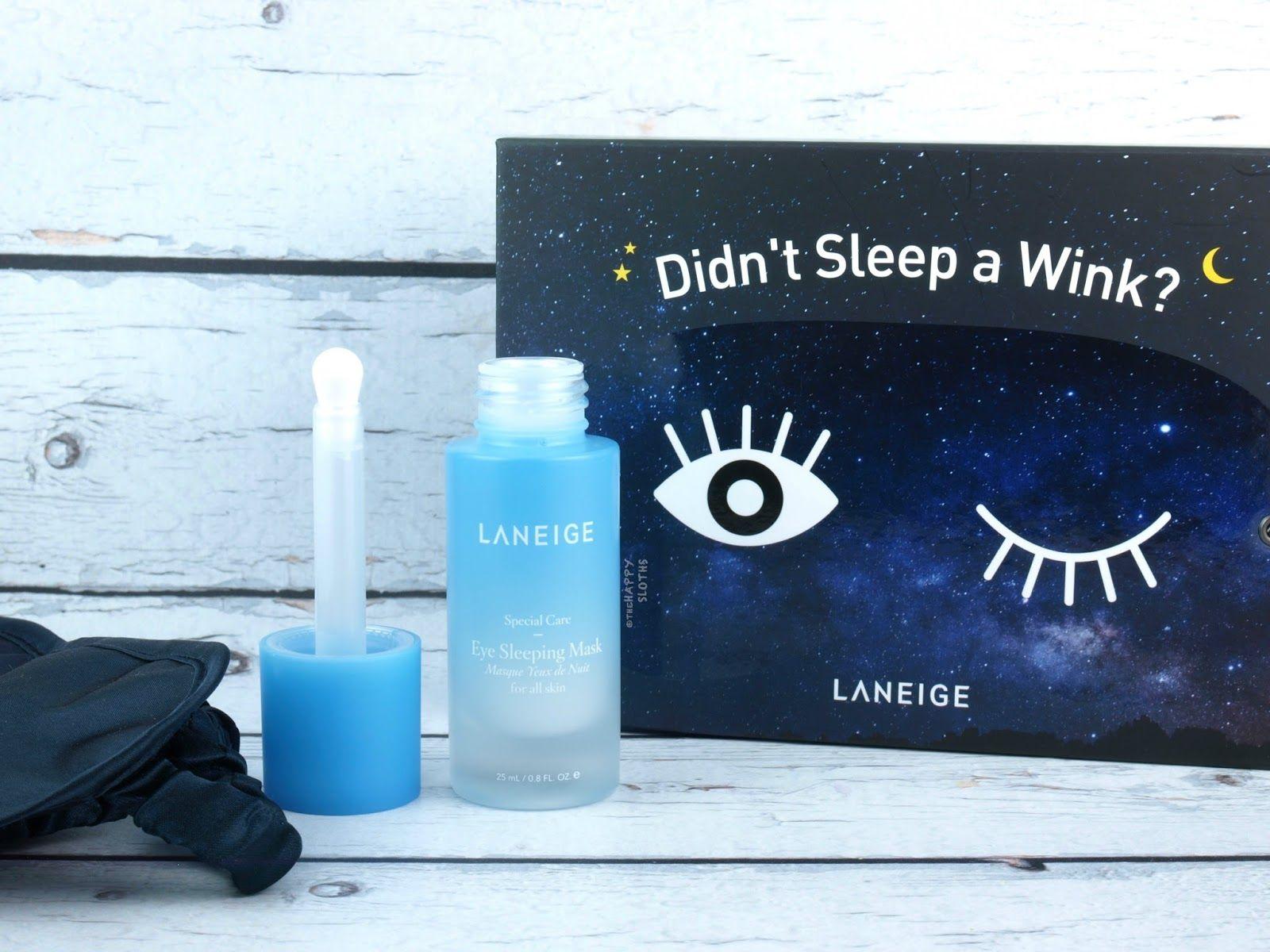 LANEIGE Eye Sleeping Mask Review Laneige, Sleep mask