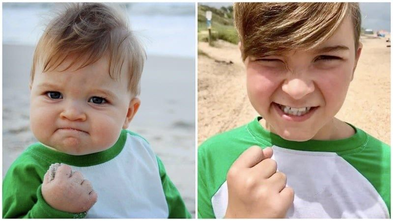 Forty Five Then And Now Pics Of People Who Starred In Memes Famous Memes Success Kid Funny Instagram Posts