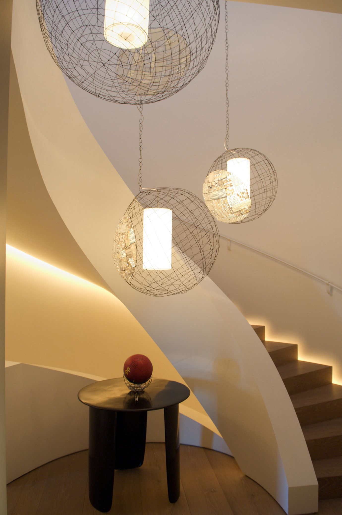 Marie Christophe, Boules Opaline fixtures  pour out poetic light and light up my life!