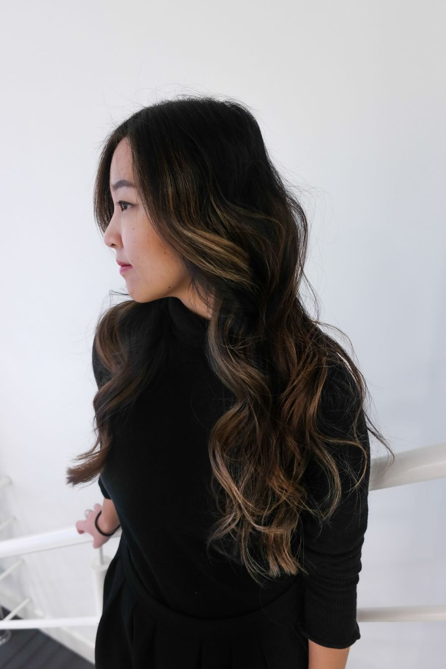 Asian Hair Balayage Highlights Bronze Chestnut Black