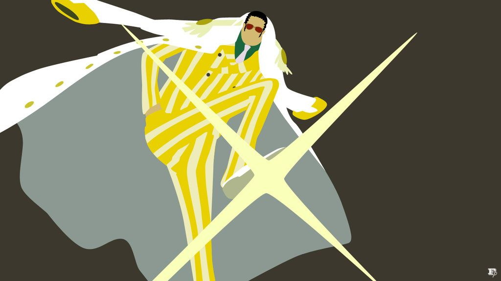 One piece kizaru borsalino minimalist by mrrobotboy on for Minimalist art pieces