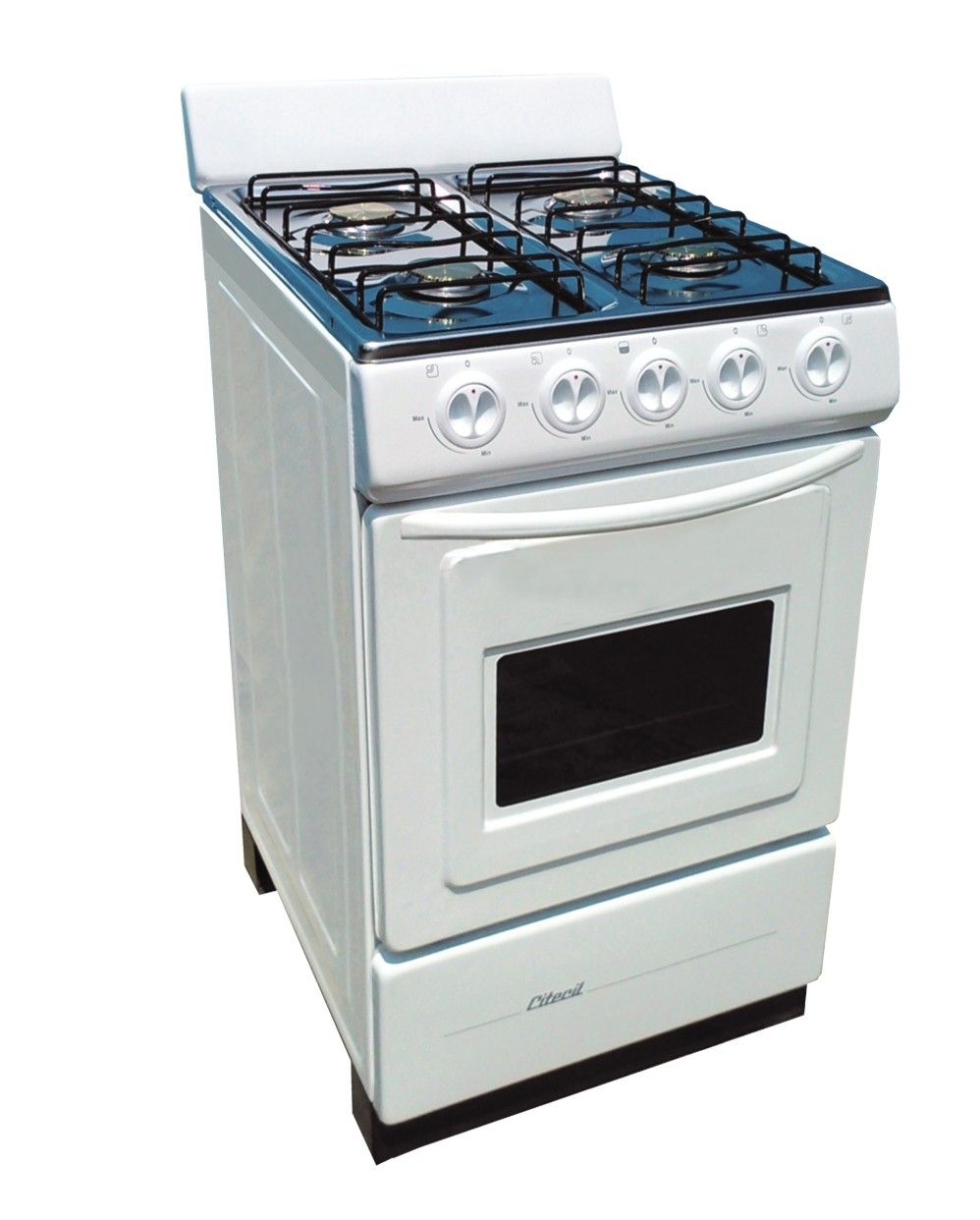Cocina con horno 4 hornillas modelo cheff mesa acero - Cocina gas natural con horno ...