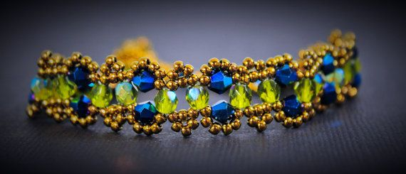 A stunning bracelet made with high-quality seed beads and elegant crystals-- by BefittingBeads, $16.00