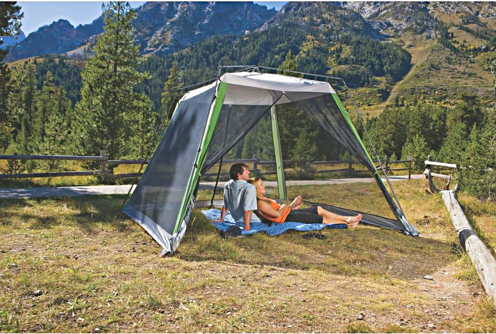 Coleman Instant Screened Shelter Camping Tent 10' x 10 ...
