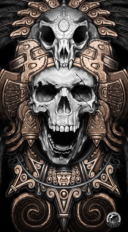 Teskatlipoka on behance jaguar warrior skull pinterest for Jaguar warrior tattoo
