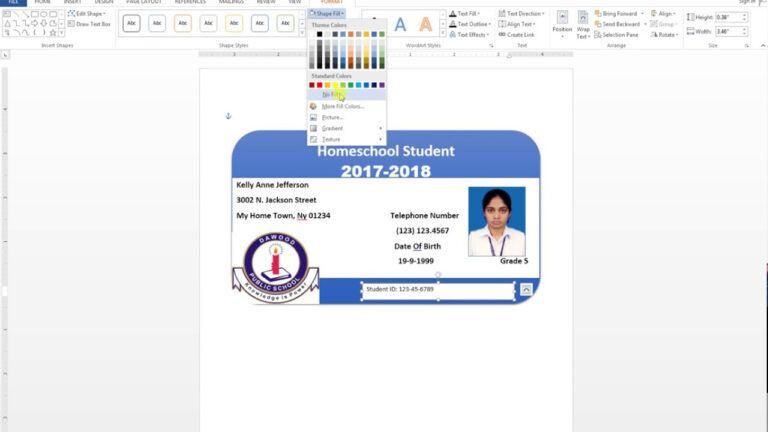 Pin On Id Card Template
