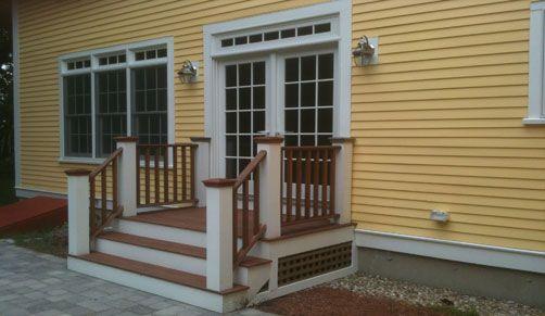 Mahogany Deck Patio Entryway Http Www Mbmcarpentry Com Services Decks And Porches Front Porch Design Porch Design
