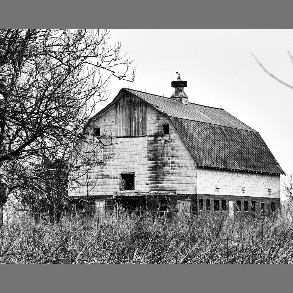 Welcome to my new series, Abandoned Americana! We'll start off with this barn outside Odell, Illinois. Like many structures in this series, someone still owns the building, but it is visually dilapidated.   #mr_eaves #Mr_Eaves_AbandonedAmericana #blackandwhitephotography #rural #countryside #ruralexploration #farm #rurex #country_features #country #rurallife #barn #abandonedplaces #abandonedbuilding #forgotten #abandoned #ruin