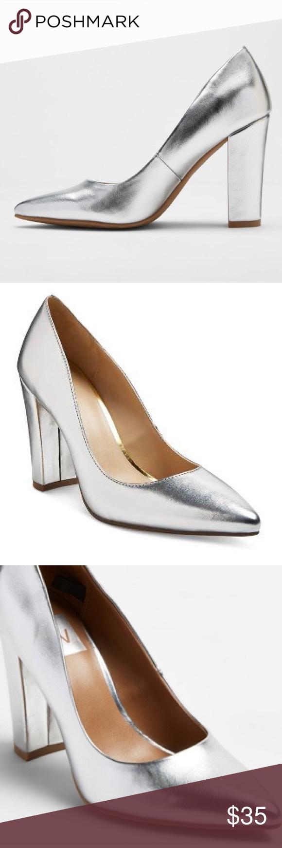 Dv Silver Brie Block Heels Heels Dolce Vita Shoes Block Heels Pumps