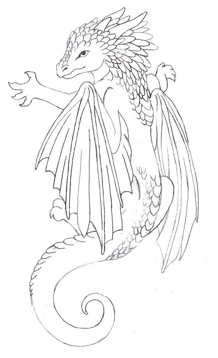 Baby Dragon Tattoo By Annikki On Deviantart Baby Dragon Tattoos Cute Dragon Tattoo Fantasy Tattoos