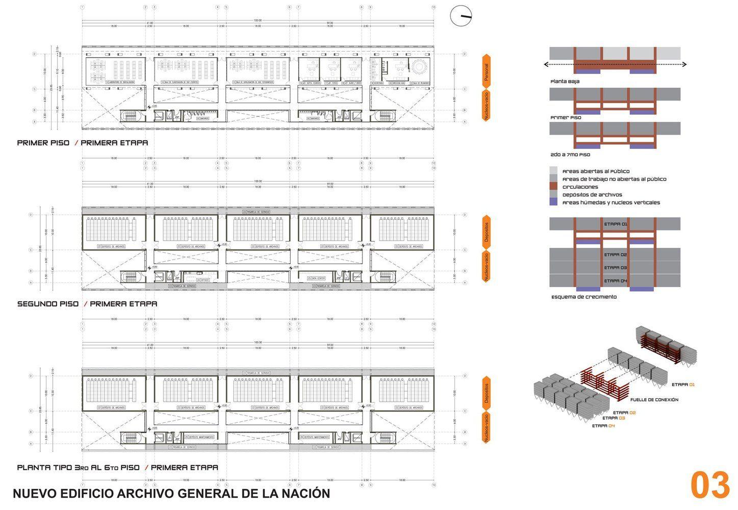 Galería de Segundo Premio Concurso para la Construcción del Nuevo Edificio Archivo General de la Nación - 5