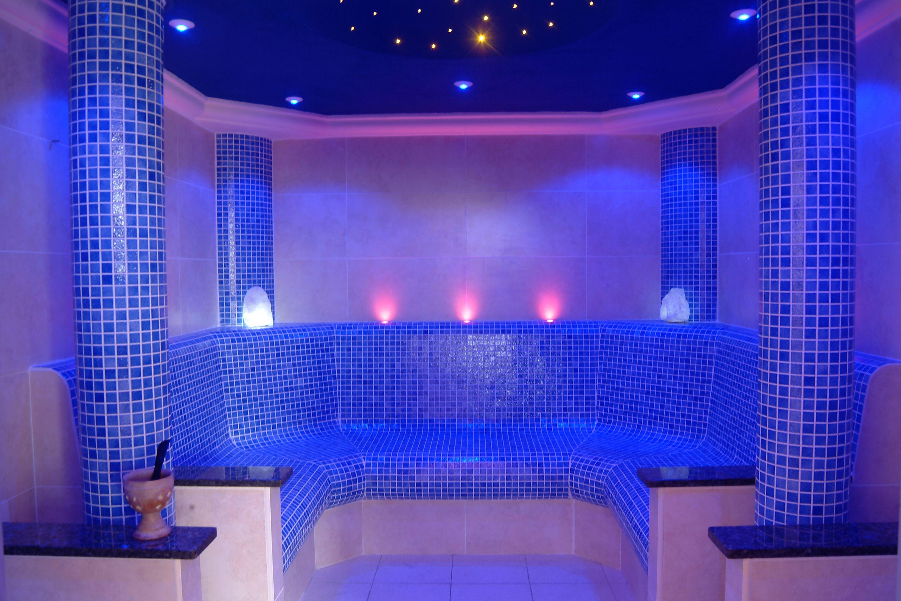 Ip Rated Step Lighting In The David Lloyd Sauna Room Relax Led Interiordesign Design Blue Warm Water Steamroom Light Steplight