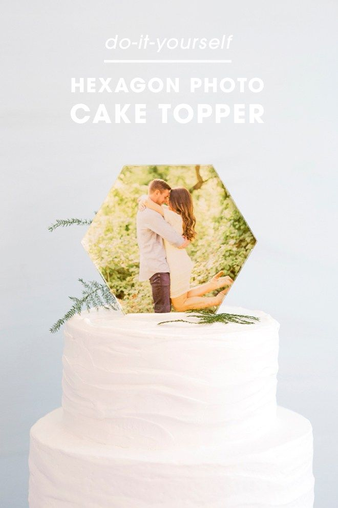 You HAVE To See This DIY Acrylic Hexagon Photo Cake Topper! | Cake ...