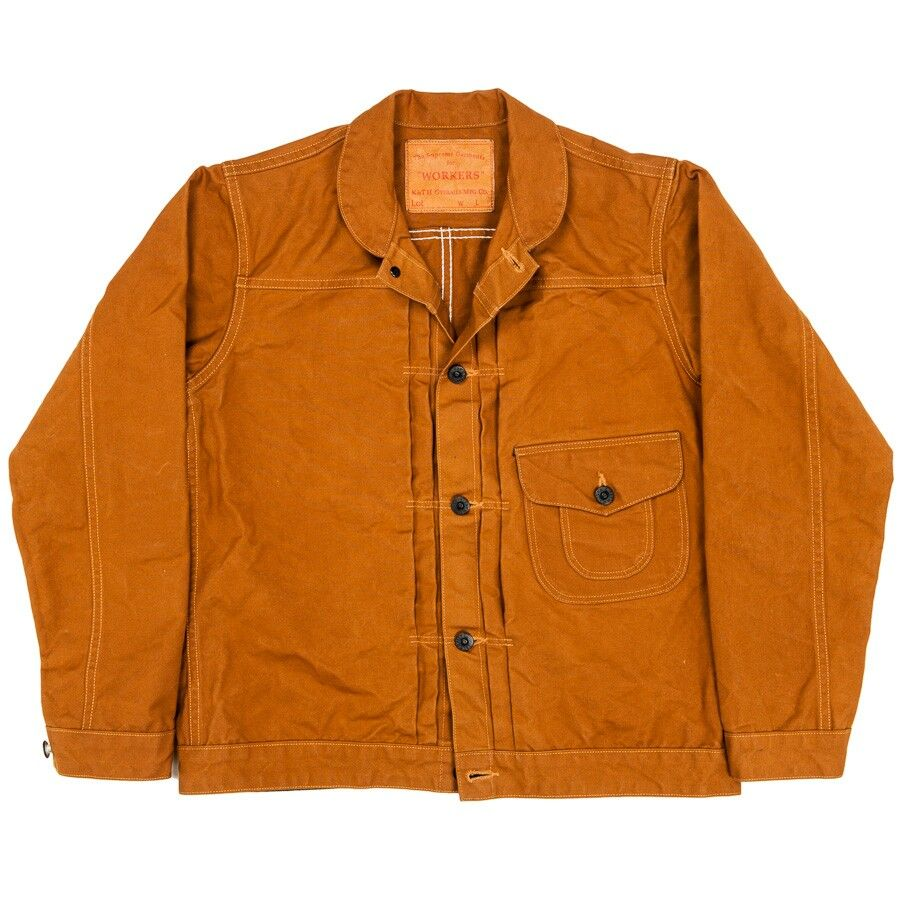 Duck Jacket Classic Workwear Collar Detail Workwear Vintage American Casual Style Outerwear Jackets [ 900 x 900 Pixel ]