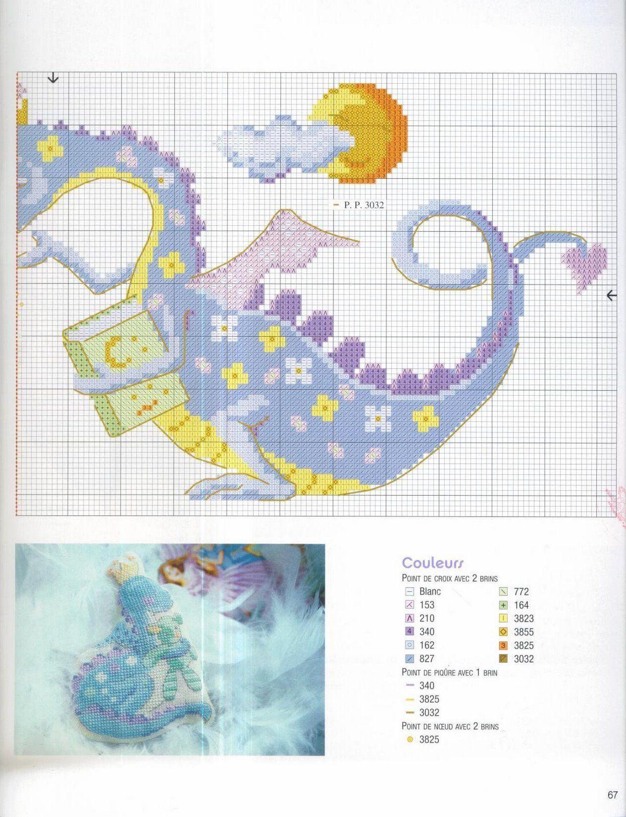 baby dragon cross stitch 2 | Dragon point de croix, Point de croix mignon et Animaux de point de ...