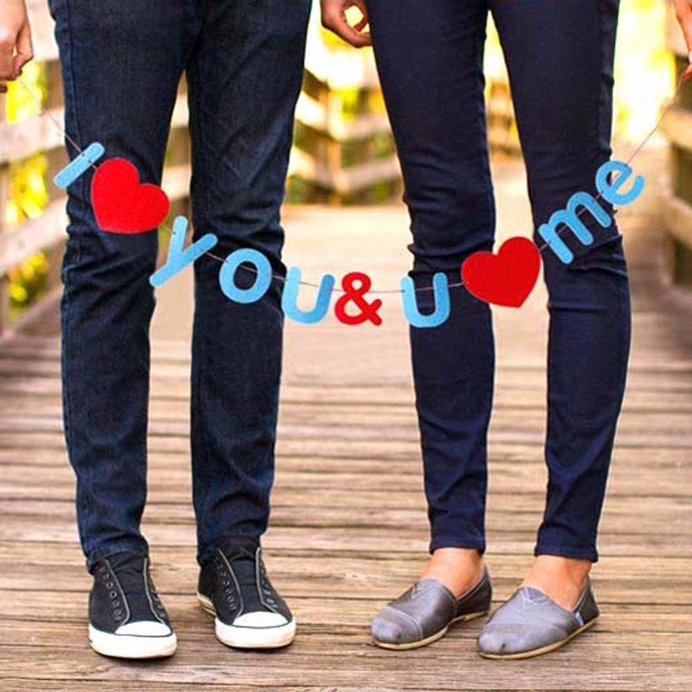 I Love You & You Love Me DIY Felt Garland Banner | Photo Booth Prop Wedding Decor