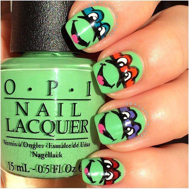 Teenage Mutant NINJA TURTLES!! ✨Nails by @nails_in_style ✨Polish ...