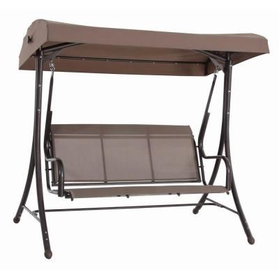 Steel Solar Lit Patio Swing Gss00005j At The Home Depot Patio Swing Backyard Furniture Garden Patio Furniture