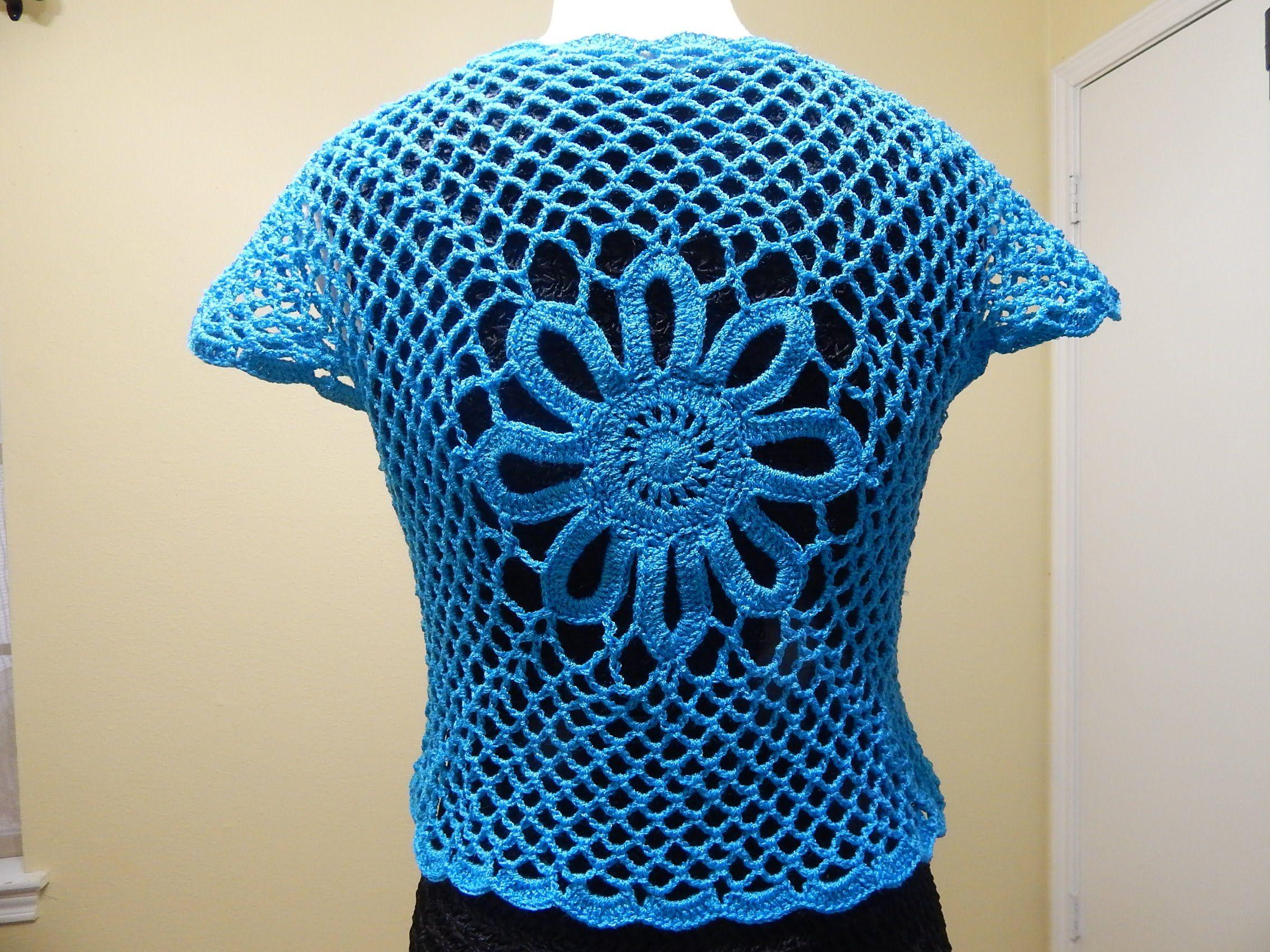 Bolero F 225 Cil Crochet Parte 2 De 3 Bolero Crochet