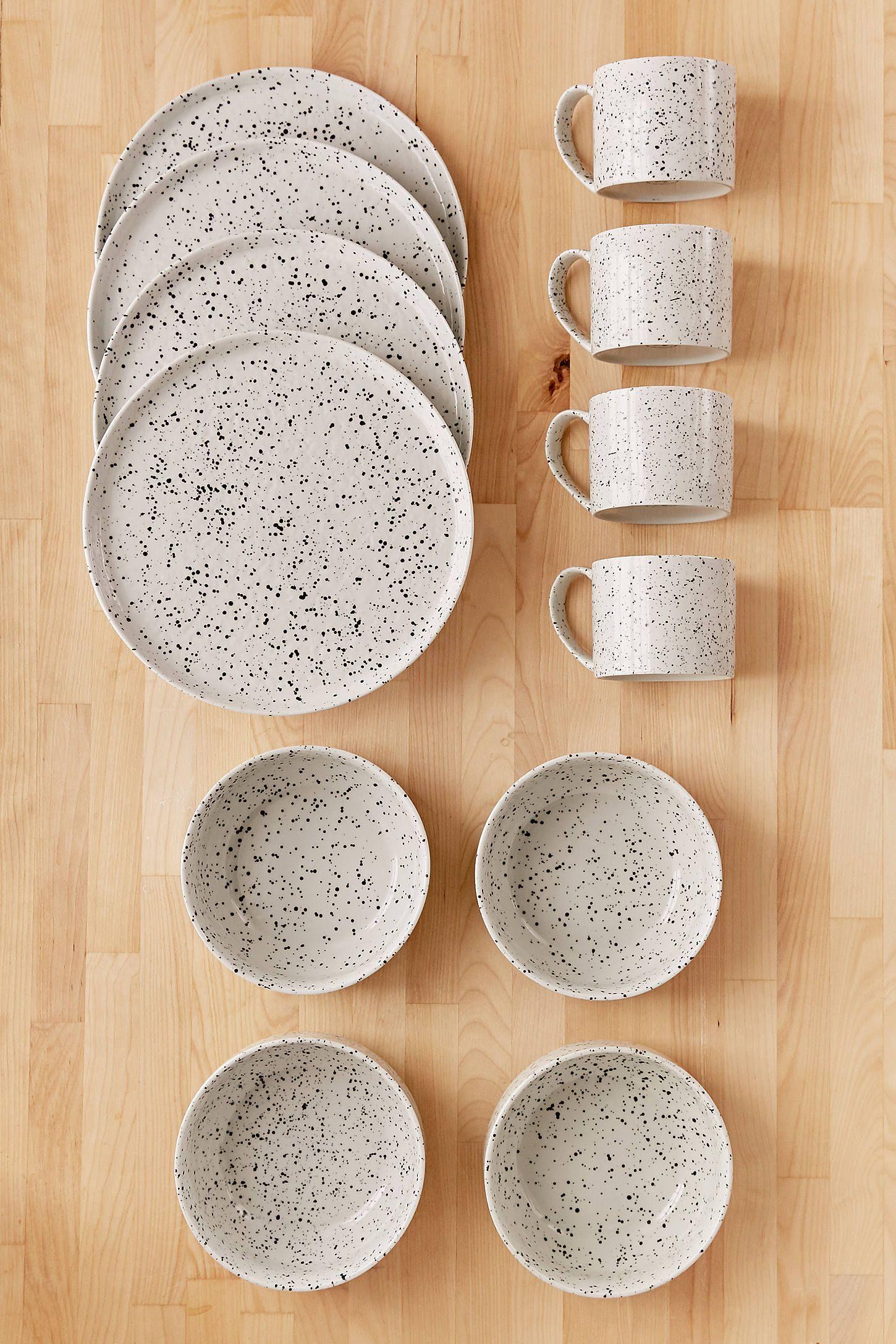 12-Piece Speckled Dinnerware Set & 12-Piece Speckled Dinnerware Set | Dinnerware Apartments and House