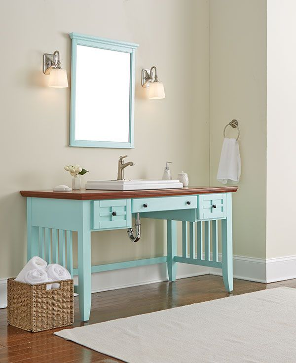 A Cozy Cottage She Shed | Diy bathroom vanity, Bathroom vanities ...