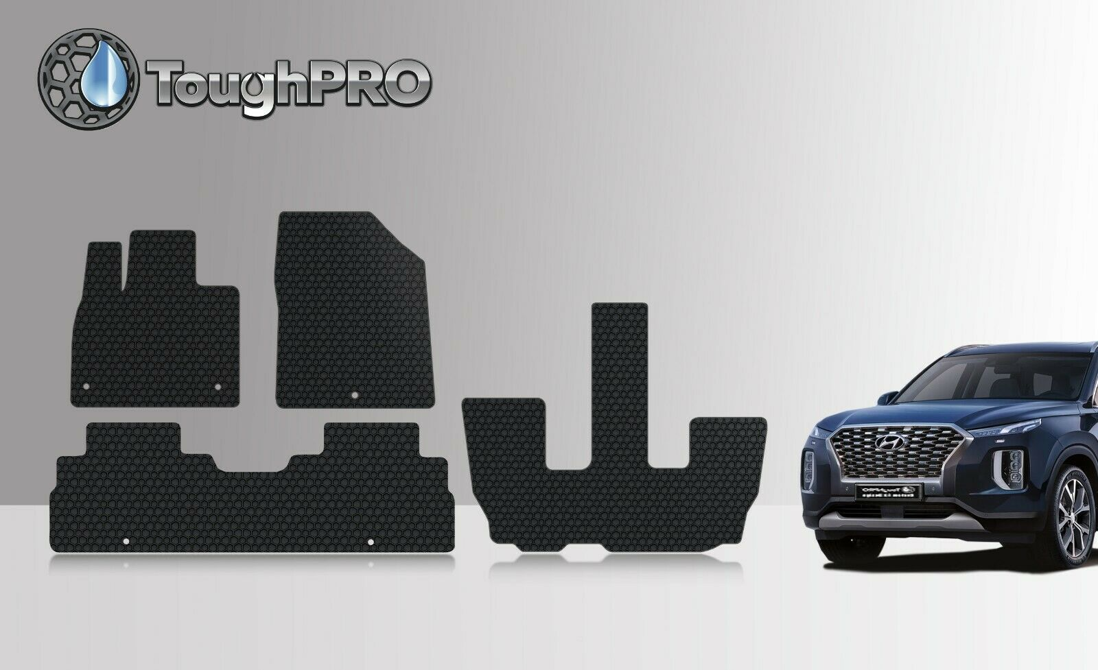 Details About Toughpro Floor Mats 3rd Row Black For Hyundai