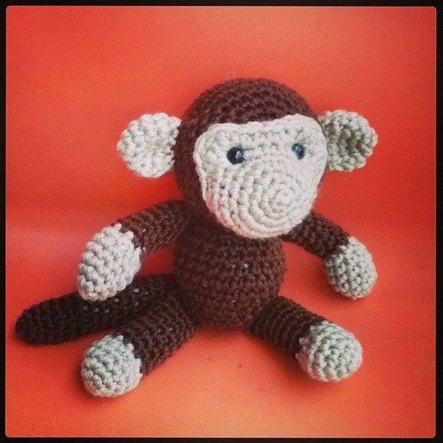 Patrón mono | Crochet Amigurumi | Pinterest | Sonajero, Mono y ...