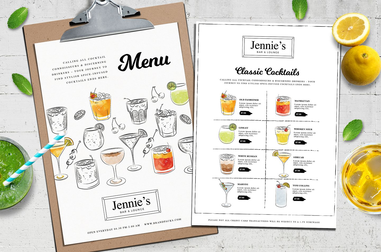 Cocktail Menu Template Vol 3 Cocktail Menu Menu Template Menu