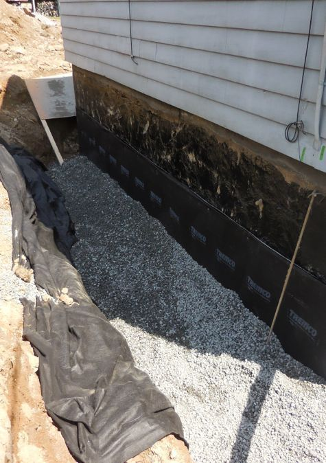 Exterior foundation drain stops water the best basement waterproofing the right way Exterior basement waterproofing