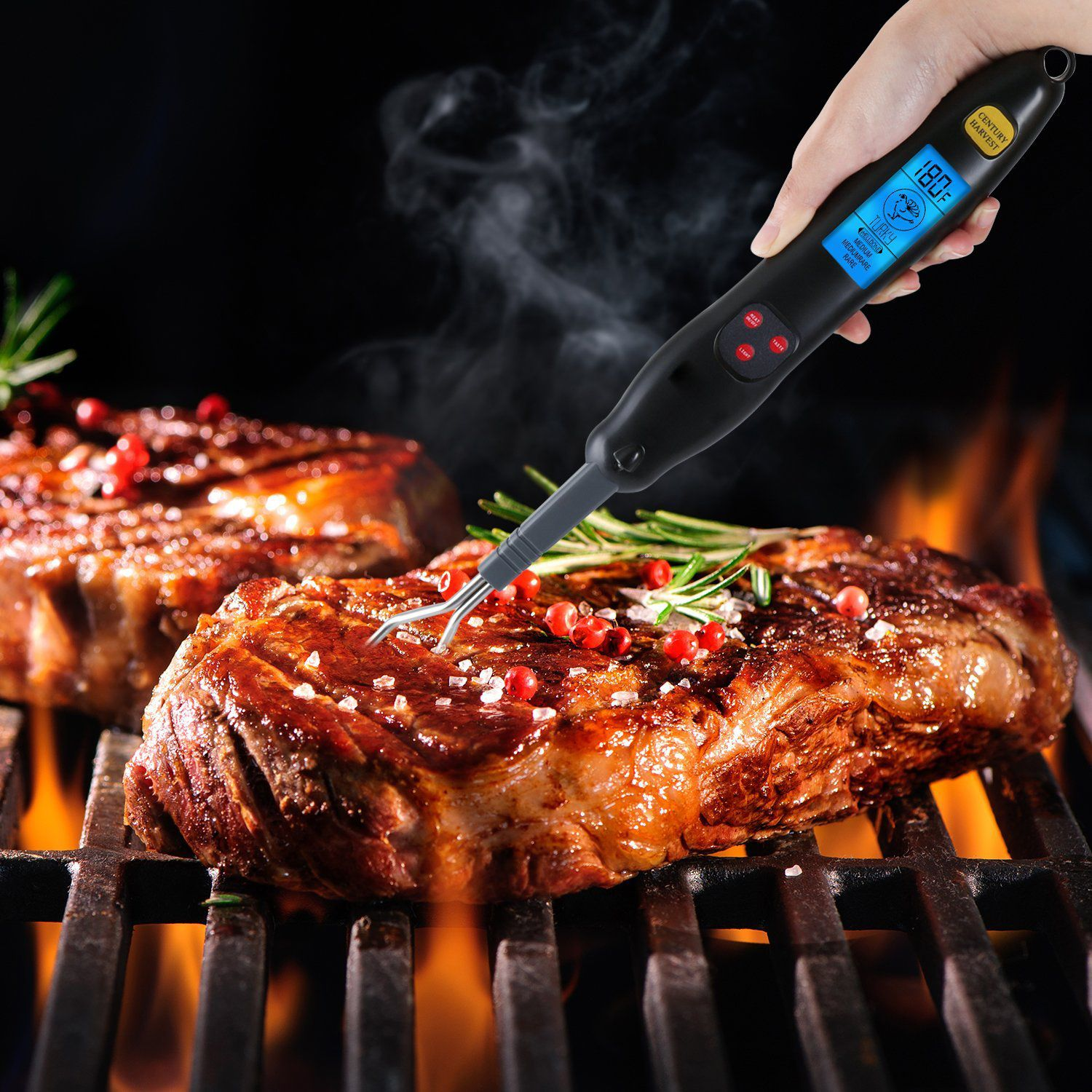 Home test kitchen cooking with gear & gadgets so, you're using a meat thermometer to temp your ch. Loskii KCH-224 Digital Meat Thermometer Fork Instant Read ...