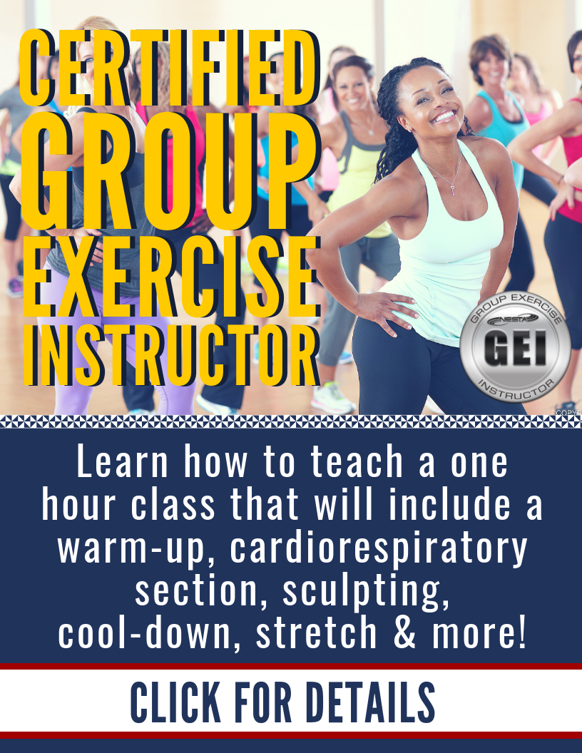 Group Exercise Instructor Certification Health Nutrition Fitness