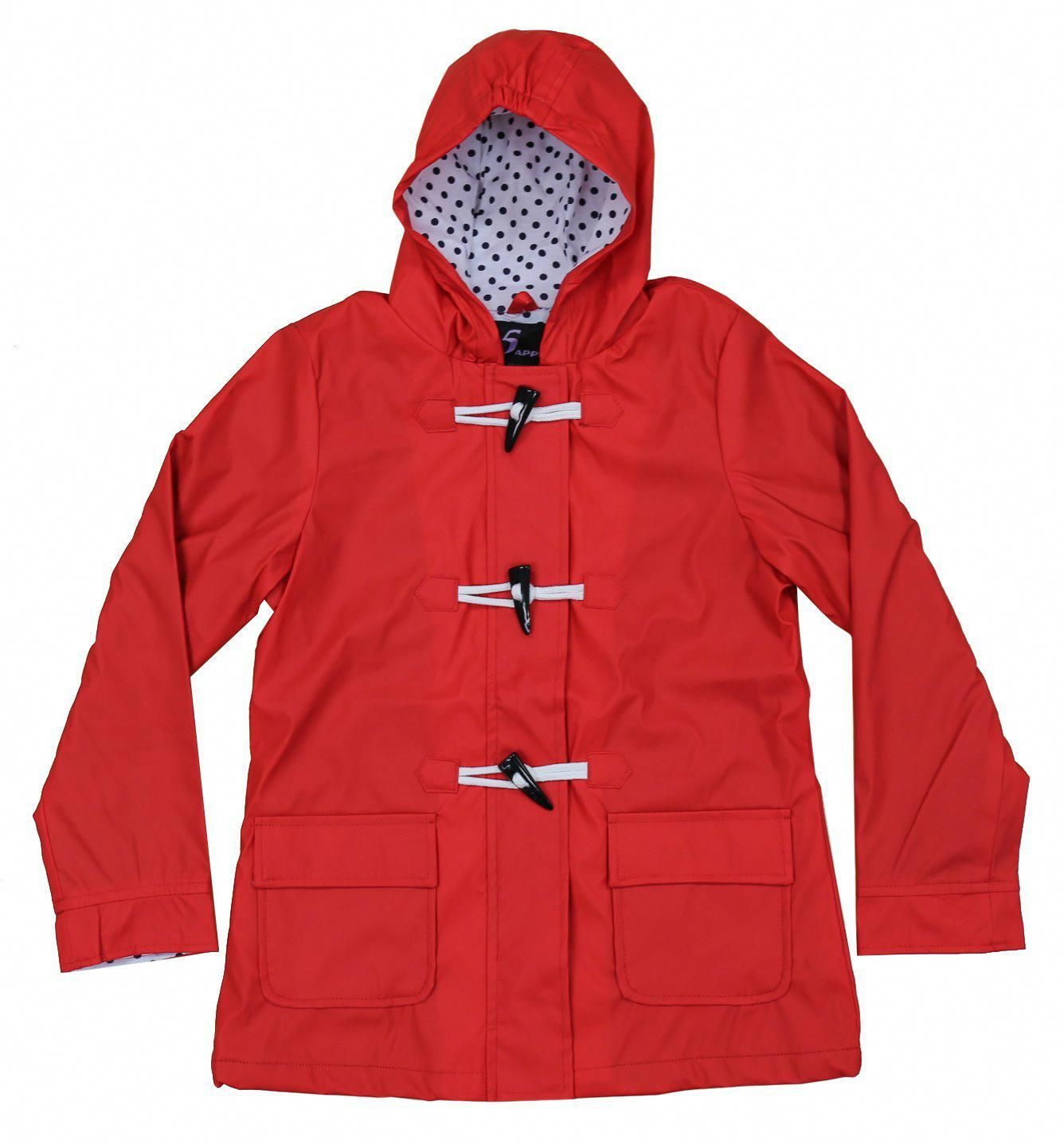 Apparel no. 5 girls' hooded fully lined toggle packable