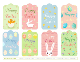 Happy easter gift tags free printable gift tag templates happy easter gift tags negle Gallery
