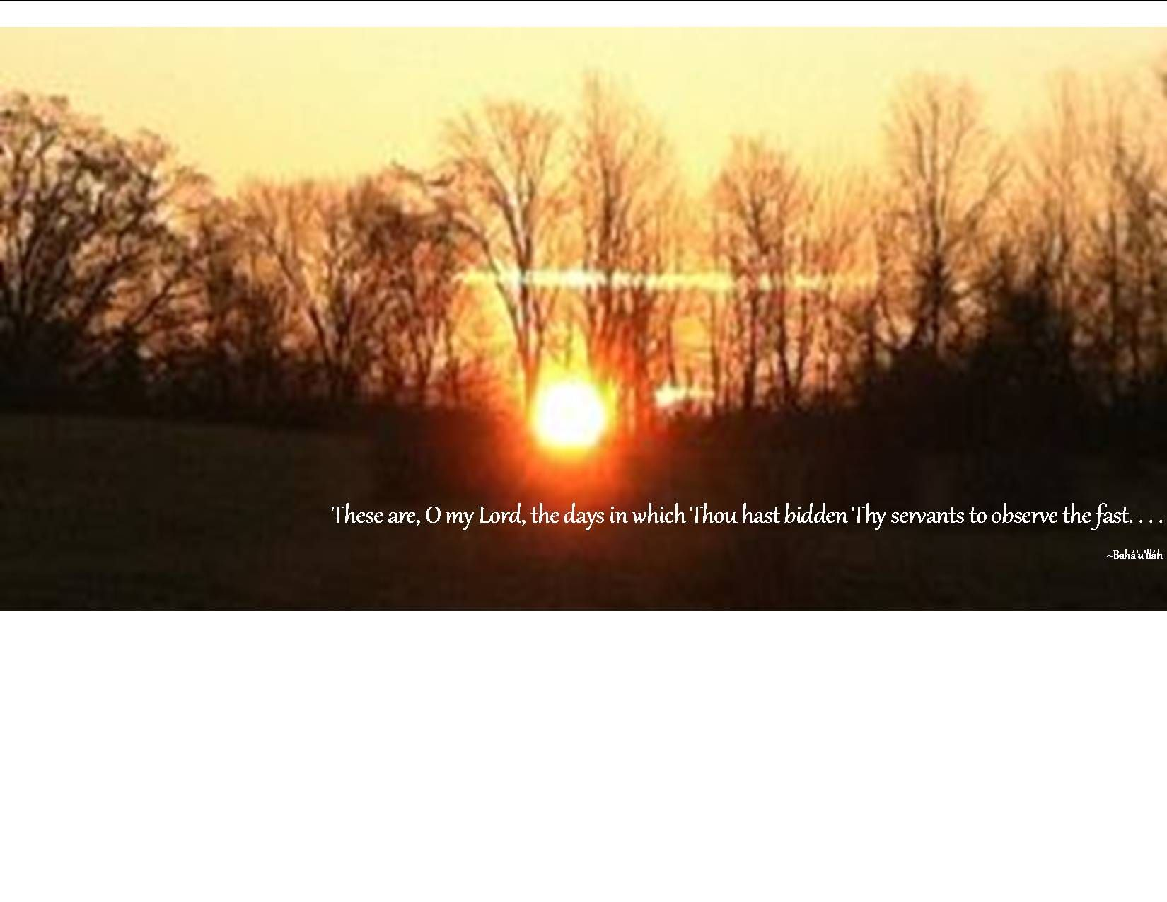 Sunrise @ Louhelen Bahá'í School is the background for my FB Cover pic for The Fast.