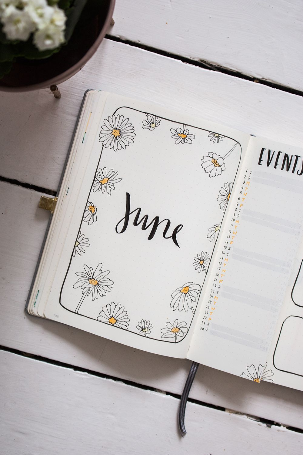 Plan with me: Bullet Journal Setup June 2019 - tea & twigs