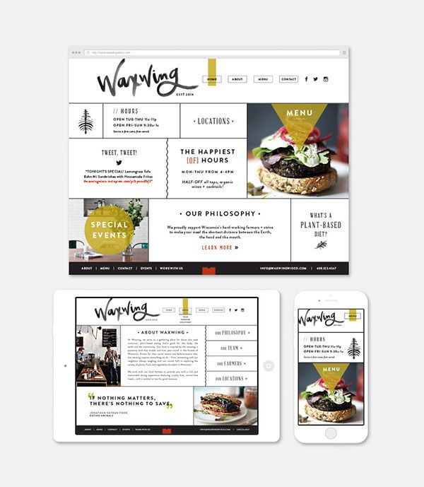 Waxwing on Behance