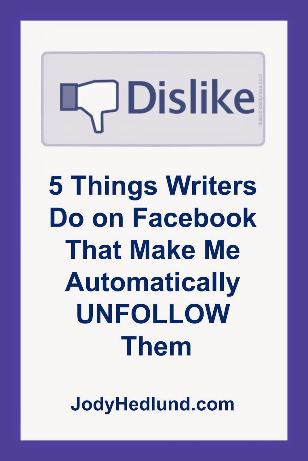 5 Things Writers Do on Facebook That Make Me Automatically