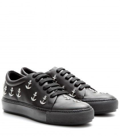 Acne Studios Adriana anchor studded leather sneakers