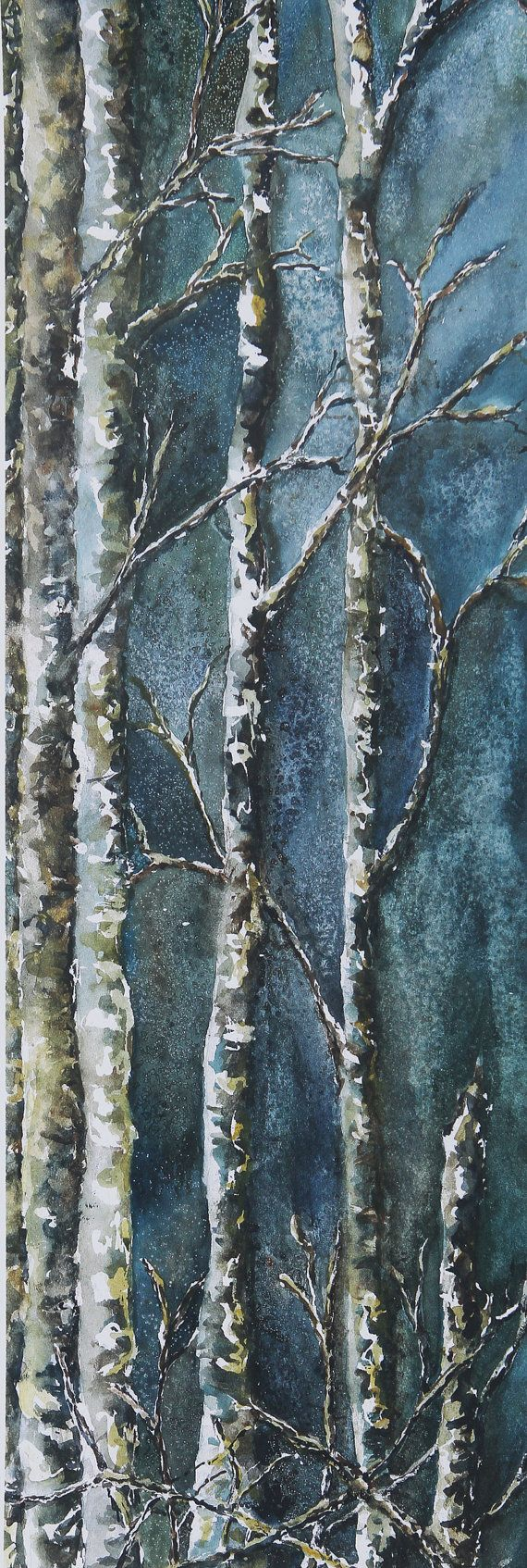 Mossy Trees watercolor by Julie Black